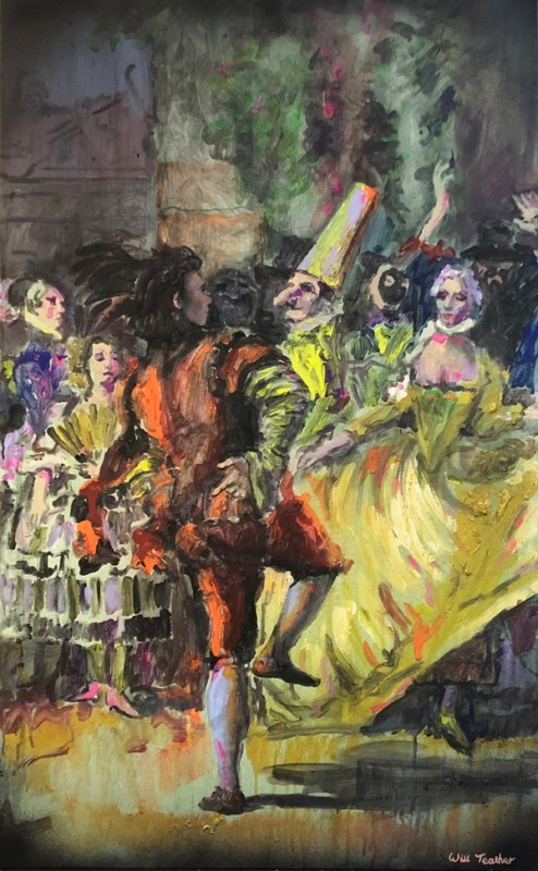 A dance in the country (after Tiepolo) by Will Teather