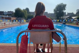 Beccles Lido lifeguard