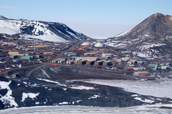 Pamje nga stacioni McMurdo