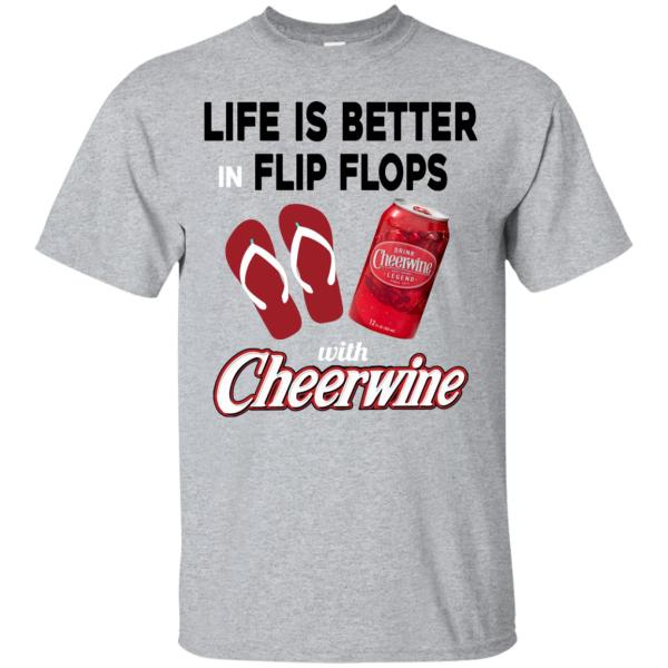 Life In Flip Flops With Cheerwine T-shirt