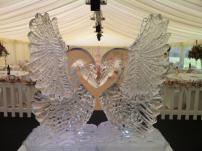 Love Heart Swans Ice Sculpture