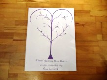 Big Furry Cat Fingerprint Family Tree Purple