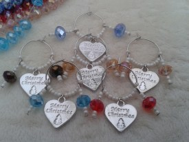 2) Charms by Joanna Christmas wine glass charms