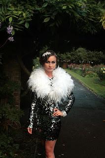 Glitzy Black Party Dress Black Pearl Weddings