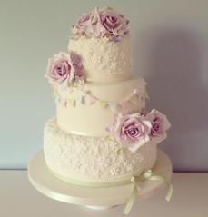 Pretty Cake Company green and pink bunting