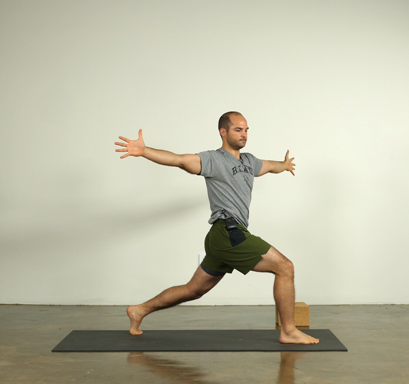 Twisting High Lunge Pose taught by Joe Pace