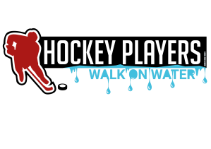 Hockey players walk on water