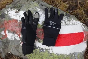 craft hybrid weather gloves 12