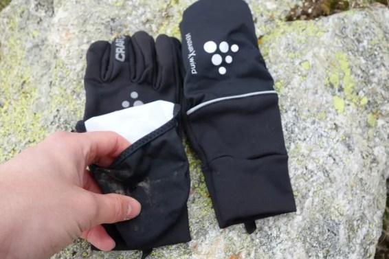 craft hybrid weather gloves 16