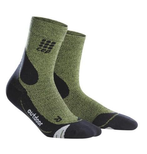 CEP_Outdoor Merino Mid Cut Socks green