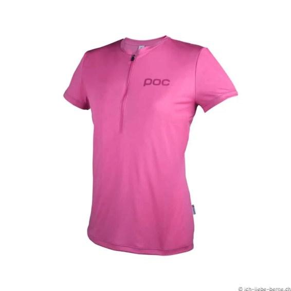 POC Trail-Light-Zip-Wo-Tee-Pink