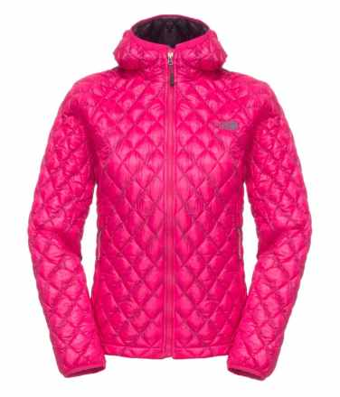 TNF Womens Thermoball Hoodie _ Passion Pink