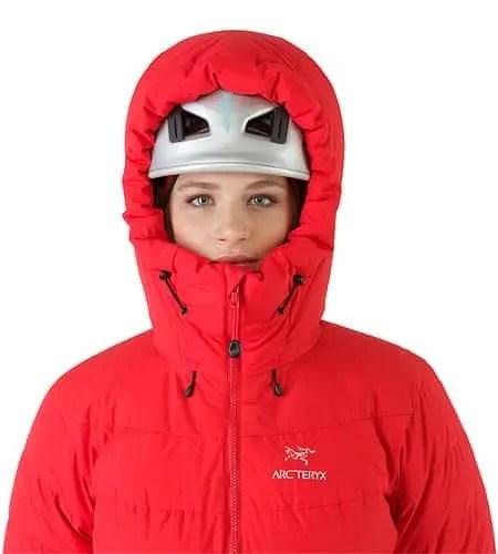 Ceres-Jacket-Women-s-Tamarillo-Helmet-Compatible-Hood-Front-View