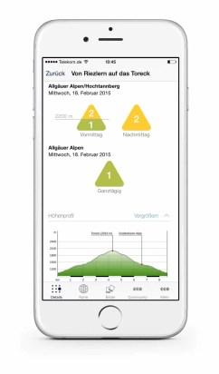 Ortovox Bergtouren App Iphone6-Lawinenwarnstufe3