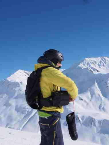 Dank robuster Gürteltasche, kein Sorgen auch beim snowboarden
