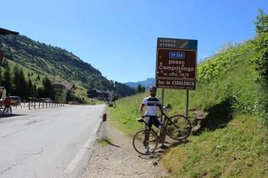 Passo Campolongo - der erste von vier Pässen