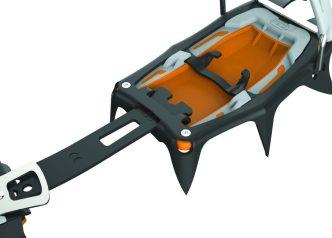 Vorrichtung, die es ermöglicht, die Länge des Verbindungsstegs bei kleinen Schuhgrößen zu reduzieren.