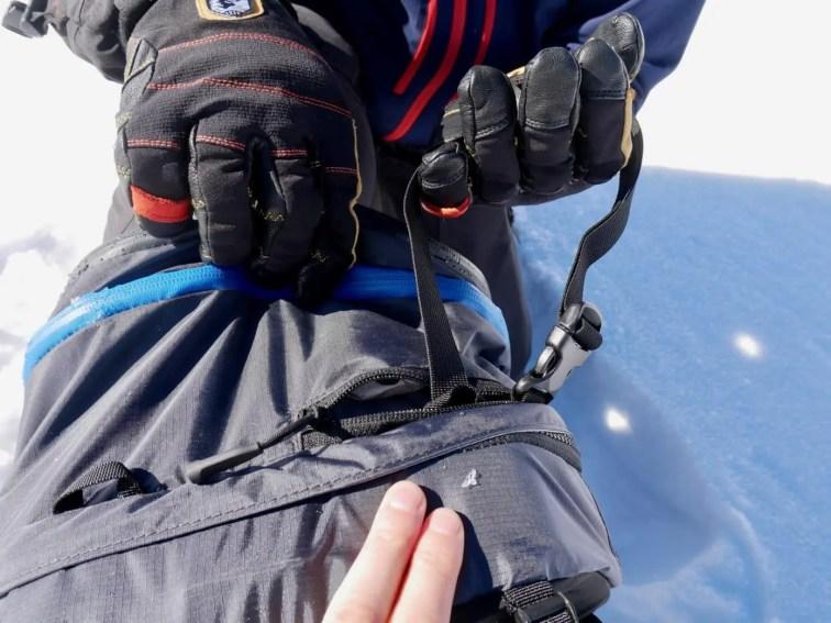 Befestigung für Ski
