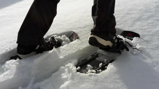 Keine Druckstellen im Schuh auch nach langem Schneeschuhlaufen