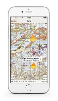 Ortovox Bergtouren App OVX_TourenApp_iPhone_Lawinenwarnstufe4