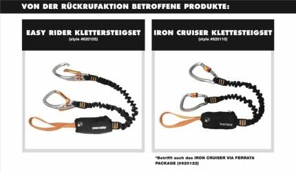 Rueckruf Black Diamond Klettersteigsets Camalot und Steigklemme 1