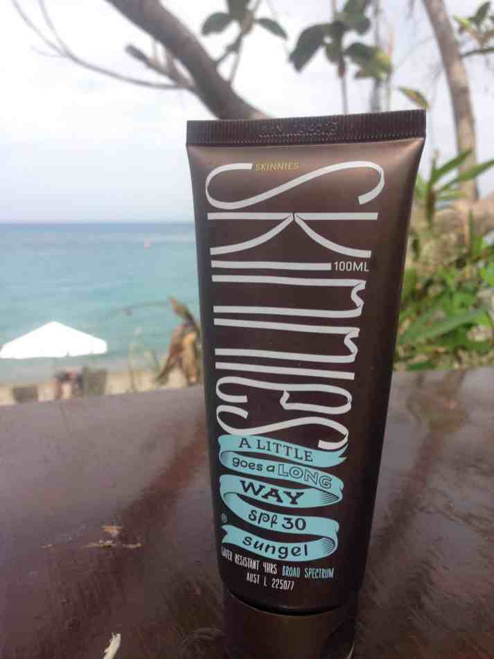 Test Skinnies SPF30 Sungel 1