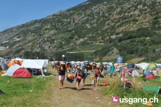 Camping am Openair Gampel 1