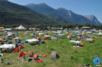 Camping am Openair Gampel 3