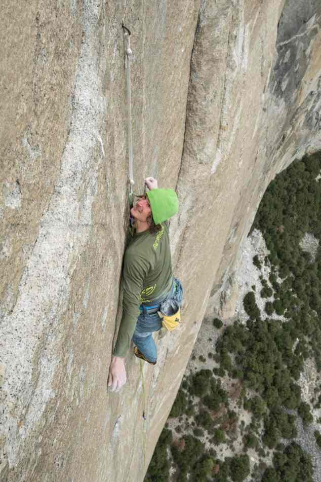 Adam Ondra on his Dawn Wall Push. Crux and Up. Pitch 19