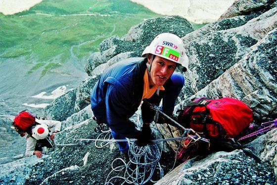 1995, Stephan Siegrist mit Mammut Eiger Extreme bei Eiger Live, Foto: Robert Bösch