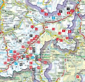 Karte Rother Skitourenführer Engadin