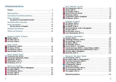 Inhaltsverzeichnis Rother Skitourenführer Engadin