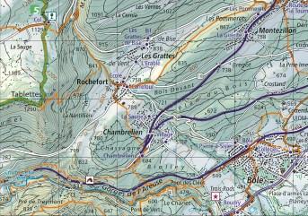 Kartenausschnitt A7 242T Areuse