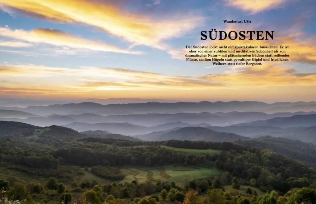 Beispielseite aus dem Buch «Die schönsten Wanderwege der USA»