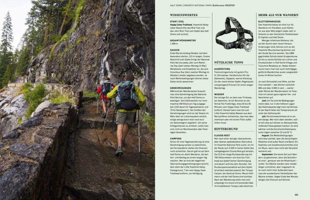 Beispielseite aus dem Buch Wanderlust USA