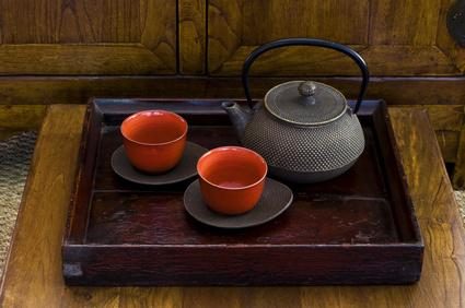 Eine Teezeremonie ist  meist Bestandteil eines Templestays.