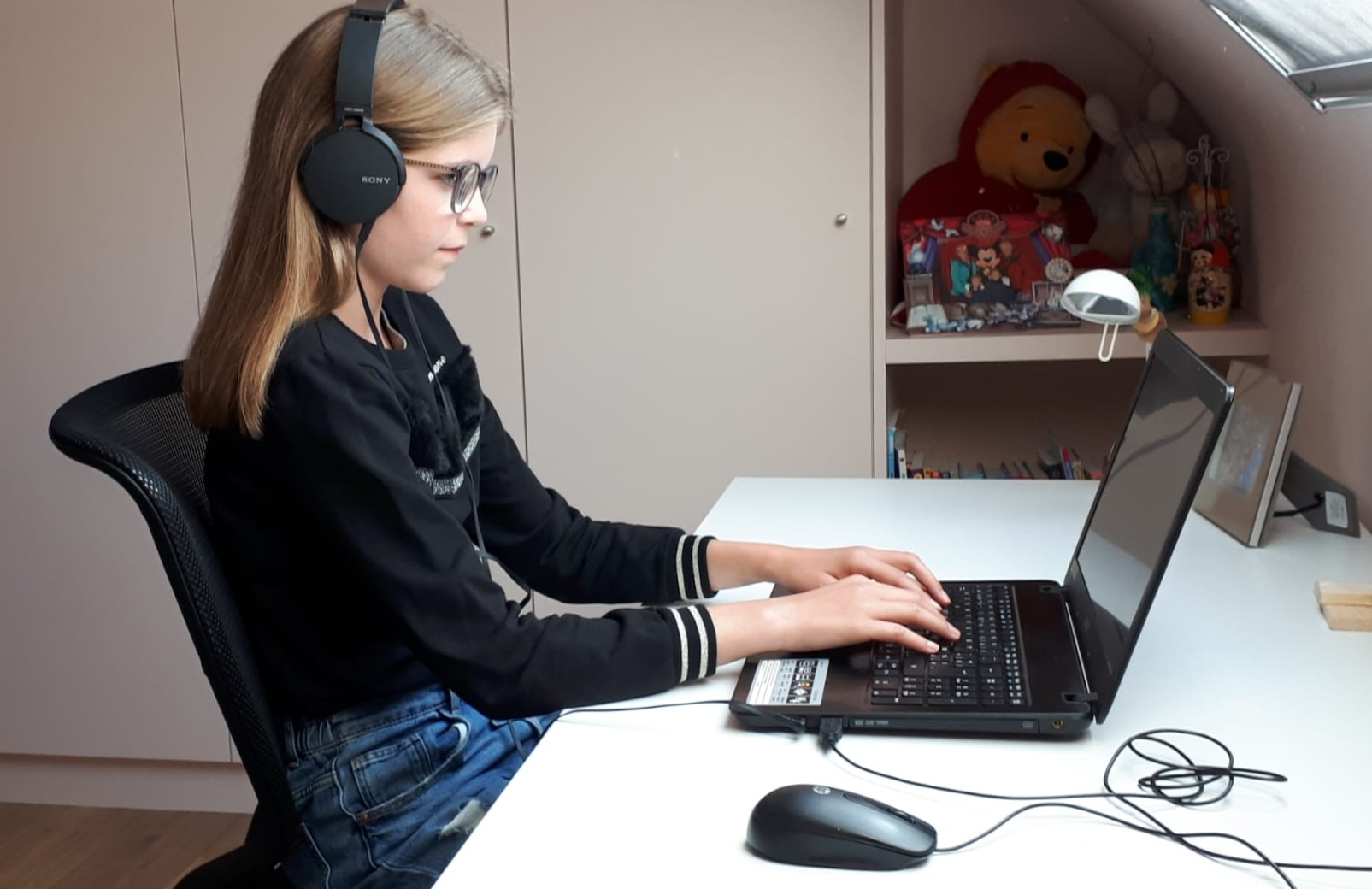 leerling, student, kind, tiener, online studeren, icha, studeren op afstand