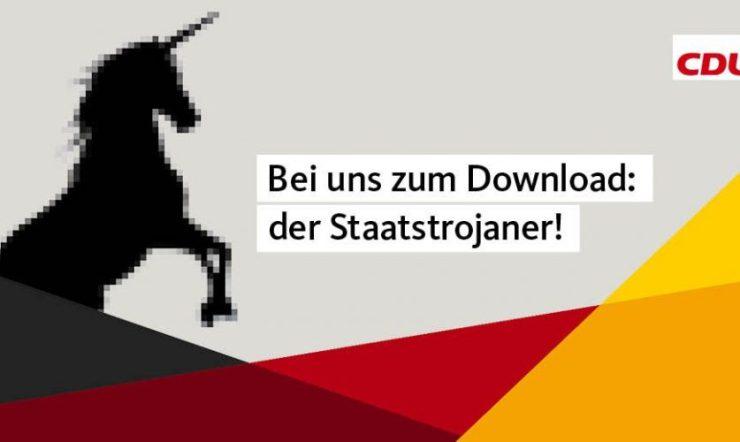 Die CDU macht Verfassungsfeindliche Werbung mit Einhörnern.