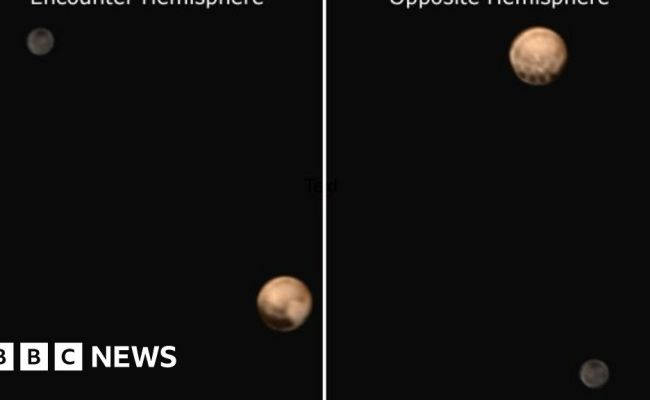 New Horizons Pluto Shows Its Spots To Nasa Probe Bbc News