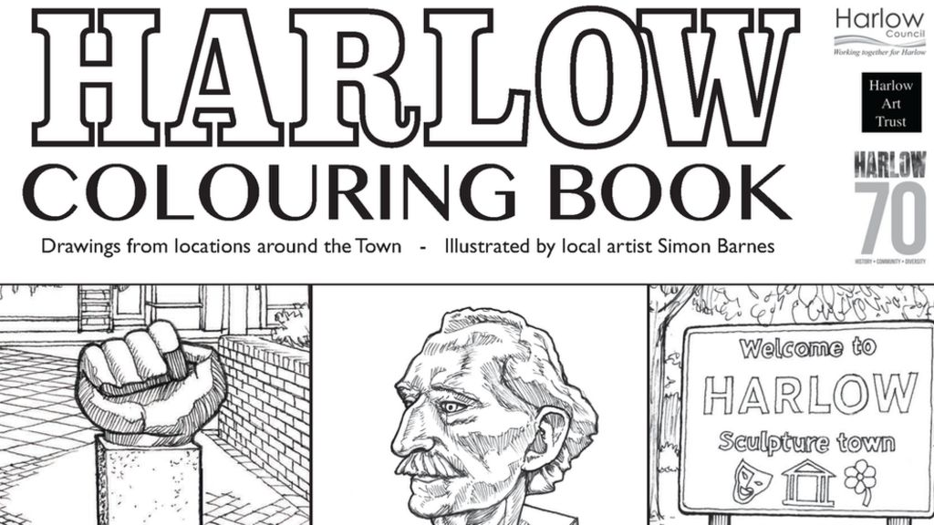 Harlow at 70: Colouring book draws on town's artistic