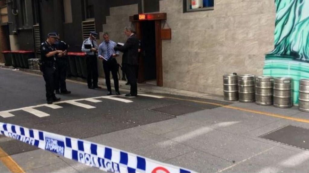 Police at the scene in Eagle Lane, Brisbane