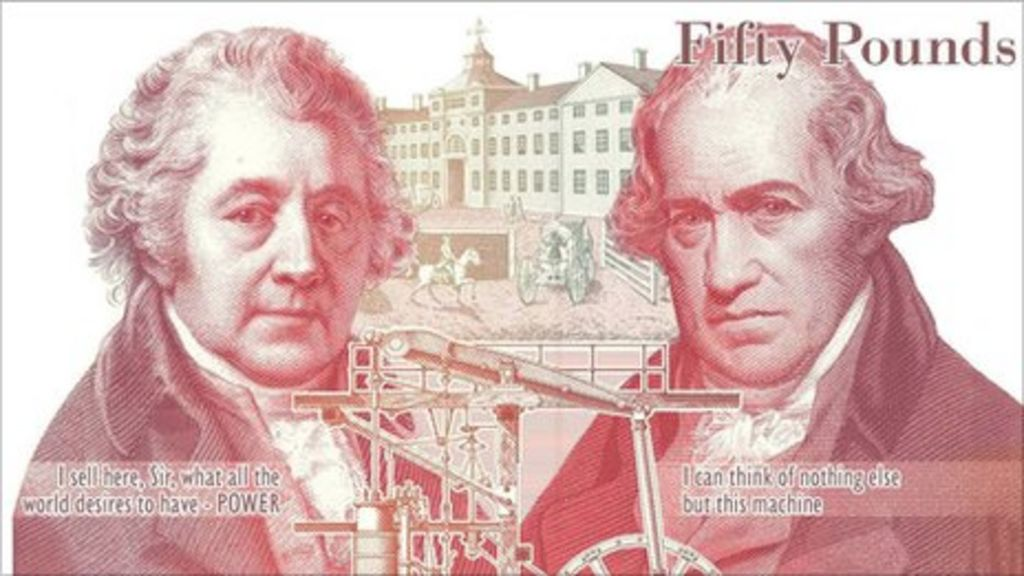 Image result for fifty pound note boulton watt