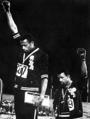 Cerimônia de entrega de medalha dos Jogos Olímpicos do México de 1968