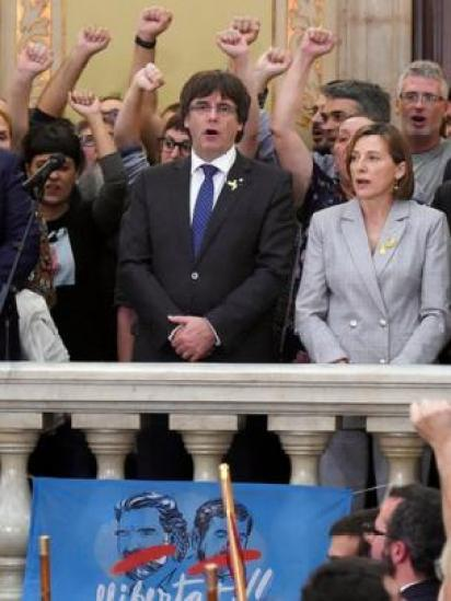 Parles Puigdemont en el Parlamento catalán.