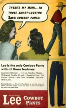 An ad for Lee jeans circa 1942