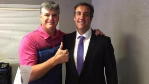 Sean Hannity (left) and Michael Cohen