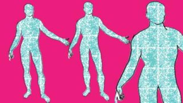 Body-bacteria illustration