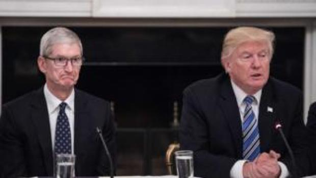 Tim Cook and President Trump