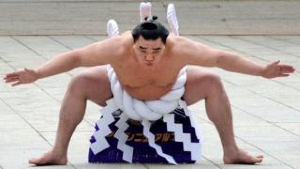 Sumo grand champion Harumafuji