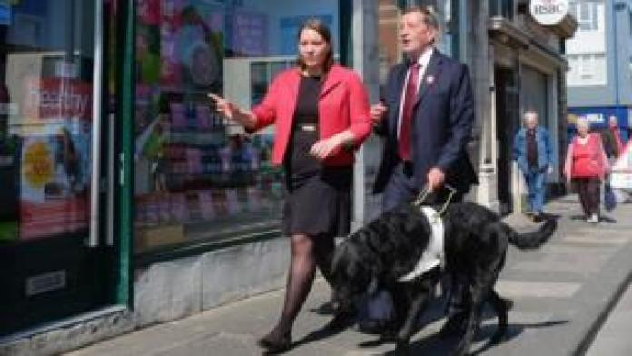 David Blunkett on the campaign trail with Cosby in Redcar in 2015
